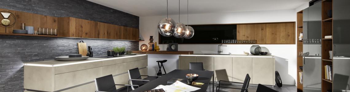 NOLTE Немецкий бетон кухня